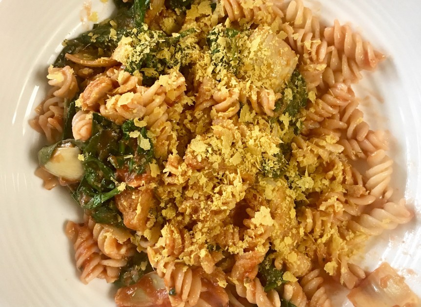 VGF Rotini with Spinach and Artichoke Hearts