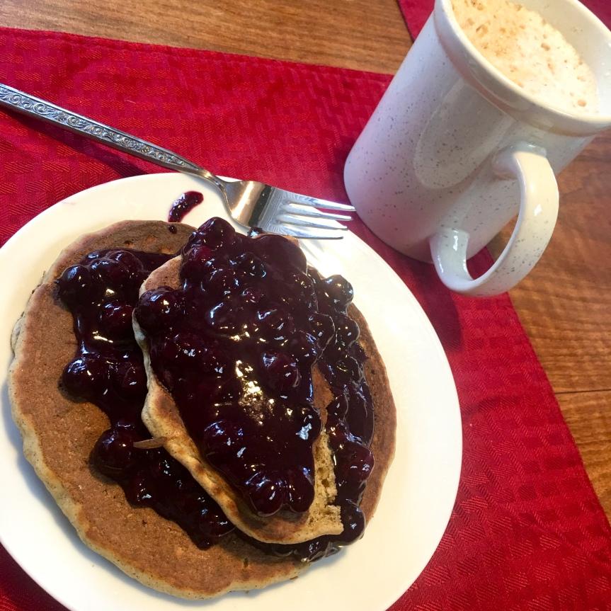 VGF Pancakes with BlueberryCompote